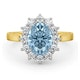 Aquamarine 1.70ct and Diamond 1.00ct 18K Gold Ring - image 2