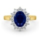 Sapphire 2.30ct And Diamond 1.00ct 18K Gold Ring - image 2