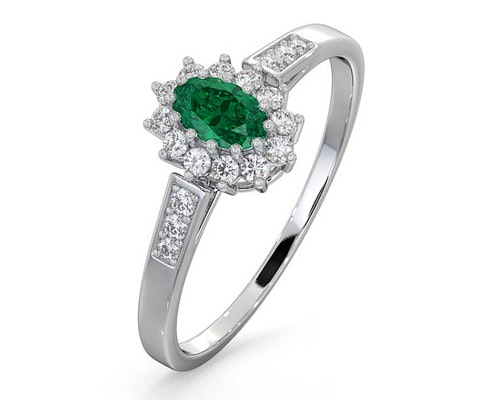 Oval Cut Emerald Rings