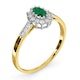 Emerald 5 x 3mm And Diamond 9K Gold Ring  A3203 - image 3