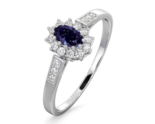 White Gold Tanzanite Rings