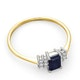 Sapphire 6 x 4mm And Diamond 9K Gold Ring  A3220 - image 4