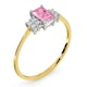 18K Gold Diamond and Pink Sapphire Ring 0.06ct - image 3