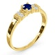 Sapphire 3.75mm And Diamond 18K Gold Ring - image 3