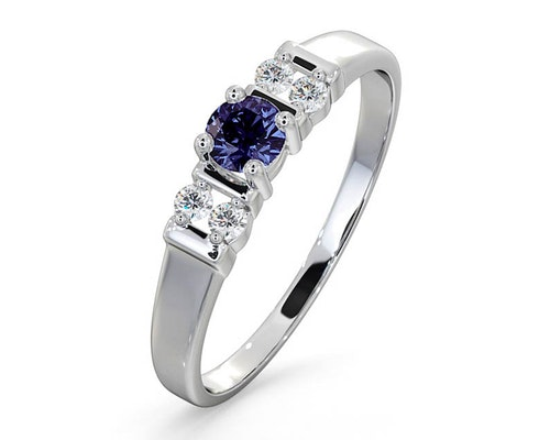 Round Cut Tanzanite Rings