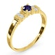 Tanzanite 3.75mm And Diamond 9K Gold Ring - image 3