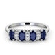 Sapphire 5 x 3mm And Diamond 9K White Gold Ring  A4452 - image 2