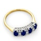 Sapphire 5 x 3mm And Diamond 9K Gold Ring - image 4