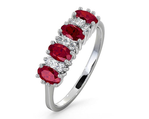 ruby white gold eternity rings