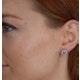 Aquamarine 1.40CT And Diamond 18K White Gold Earrings - image 3