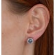 Aquamarine 1.40CT And Diamond 18K White Gold Earrings - image 4