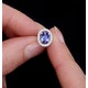 Tanzanite 7 x 5mm And Diamond 18K White Gold Earrings - image 4