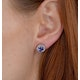 Tanzanite 7 x 5mm And Diamond 18K White Gold Earrings - image 3
