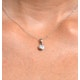 Certified Diamond 0.50CT Emily 18K White Gold Pendant G/SI1 - image 3