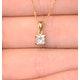 18K GOLD PRINCESS DIAMOND PENDANT 0.33CT H/SI - image 3