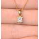 18K GOLD PRINCESS DIAMOND PENDANT 0.50CT G/VS - image 3