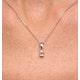Alice Emerald Cut 18K White Gold Diamond Pendant 0.25CT H/SI - image 4