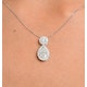 1ct Diamond and 18K White Gold Galileo Pendant FS26 - image 4