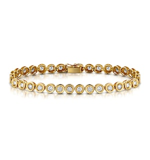 9K Gold 5.00ct Diamond Bracelet - RTC-I3228