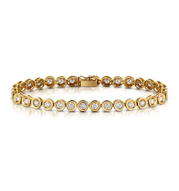 9K Gold 5.00ct Diamond Bracelet - RTC-I3228 - image 1