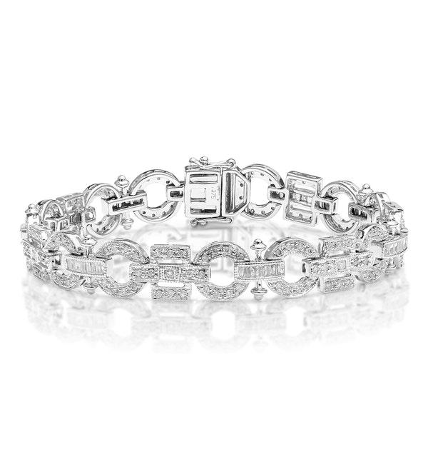 Everyday Bracelet 2.50CT Diamond 9K White Gold - image 1