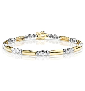 1/4 Carat Diamond Rubover Bracelet in 9K Gold