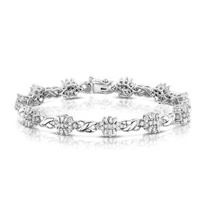 2.05ct Diamond Cluster Bracelet in 9K White Gold