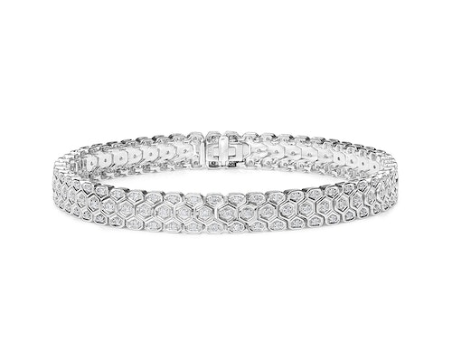 Diamond evening bracelets