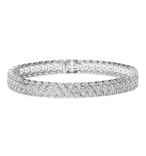Evening Bracelet 1.00CT Diamond 9K White Gold - image 1