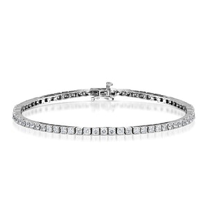 4ct Diamond Tennis Bracelet Claw Set in 9K White Gold