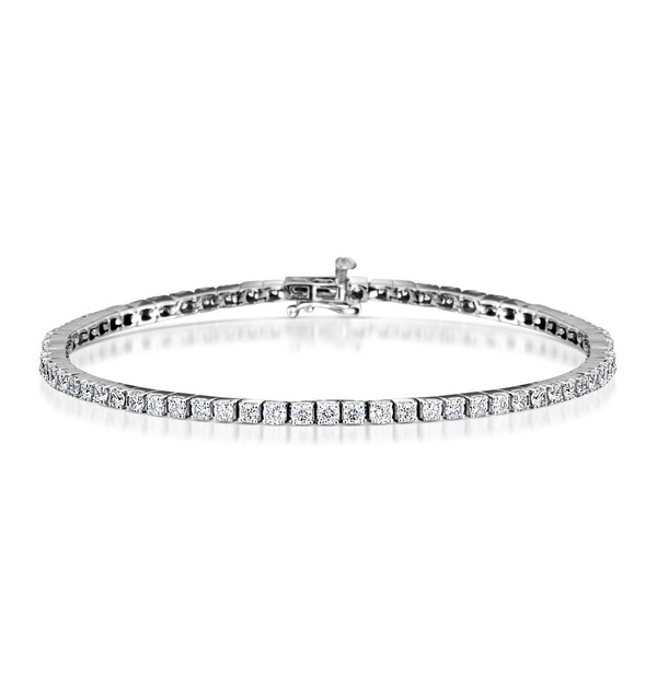 4ct Diamond Tennis Bracelet Claw Set in 9K White Gold - image 1