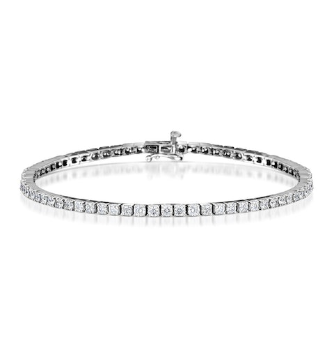 4ct Diamond Tennis Bracelet Claw Set in 9K White Gold - image 1