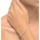 4ct Diamond Tennis Bracelet Claw Set in 9K White Gold - image 2