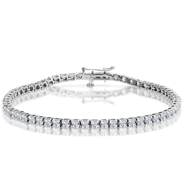 5ct Diamond Tennis Bracelet Claw Set in 9K White Gold - image 1