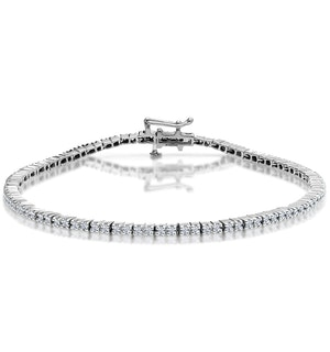 1ct Diamond Tennis Bracelet Claw Set in 9K White Gold