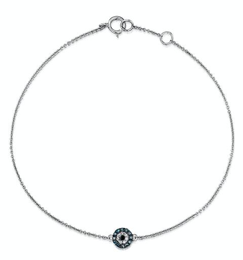 Black Diamond and Diamond Stellato Bracelet in 9K White Gold - image 1