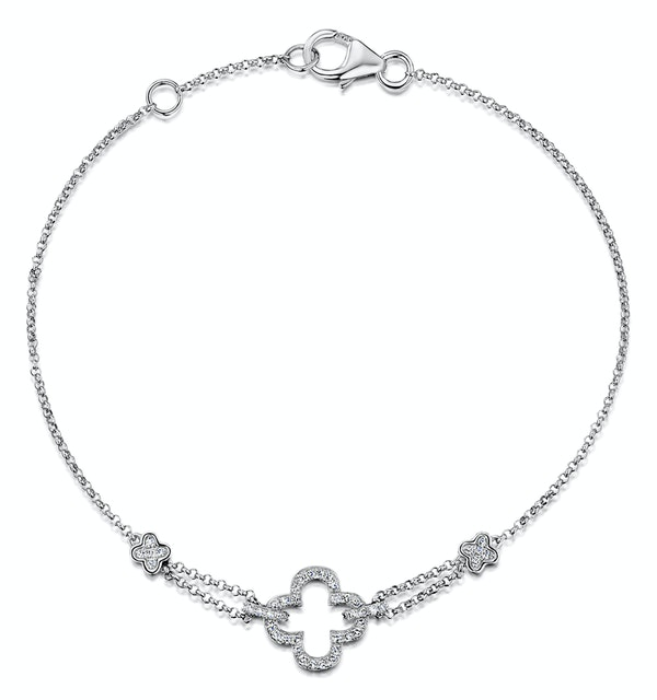 Stellato Collection Diamond Bracelet 0.15ct in 9K White Gold - I3656 - image 1