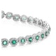 1.11ct Emerald and 1ct Diamond Stellato Bracelet in 9K White Gold - image 3