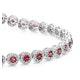 1.36ct Ruby and 1ct Diamond Stellato Bracelet in 9K White Gold - image 3