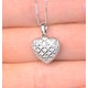 Heart Pendant 0.47ct Diamond 9K White Gold - image 3