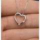 Diamond Heart Pendant 0.03ct 9K White Gold - image 3