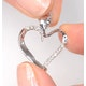 Heart Pendant 0.15ct Diamond 9K White Gold - image 3
