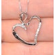 Heart Pendant 0.15ct Diamond 9K White Gold - image 4