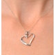 Heart Pendant 0.15ct Diamond 9K White Gold - image 2