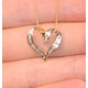 Heart Pendant 0.33ct Diamond 9K Yellow Gold - image 3
