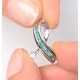 Emerald 0.22CT And Diamond 9K White Gold Ribbon Pendant - image 3