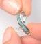 Emerald 0.22CT And Diamond 9K White Gold Ribbon Pendant Necklace - image 3
