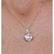 7.5mm Button Pearl and Diamond Stellato Pendant in 9K White Gold - image 3