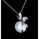 7.5mm Button Pearl and Diamond Stellato Pendant in 9K White Gold - image 4