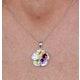 Citrine Garnet Peridot Blue Topaz Diamond Stellato Pendant 9KW Gold - image 3